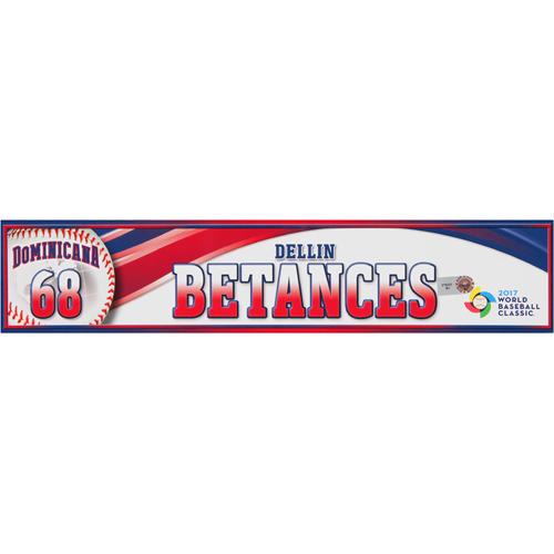 Photo of 2017 WBC Dominican Republic Game-Used Locker Tag: Dellin Betances #68