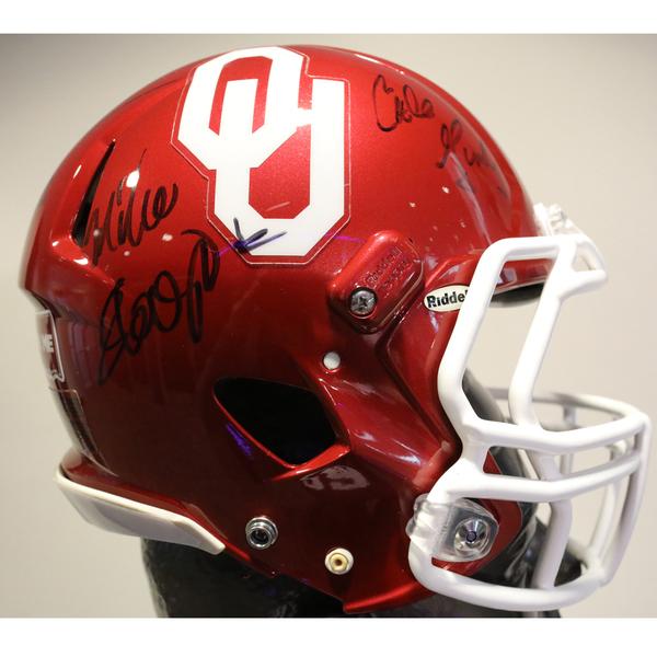 Oklahoma Autographed Full-Size Football Helmet