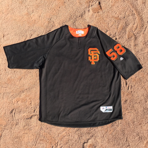San Francisco Giants - 2017 Team-Issued Batting Practice Jersey #58 Bill Hayes (Size: 2XL)
