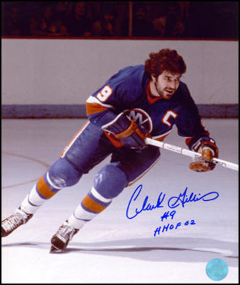 CLARKE GILLIES New York Islanders SIGNED 16x20 Captain Photo