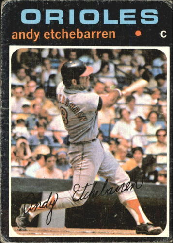 Photo of 1971 Topps #501 Andy Etchebarren