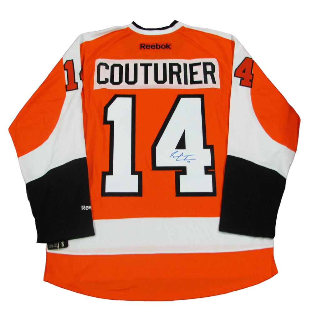 SEAN COUTURIER Signed Philadelphia Flyers Orange Reebok Jersey