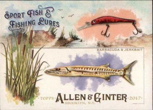 Photo of 2017 Topps Allen and Ginter Sport Fish and Fishing Lures #SFL19 Barracuda