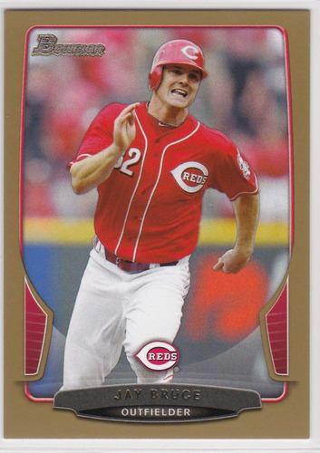 Photo of 2013 Bowman Gold #198 Jay Bruce -- Indians post-season