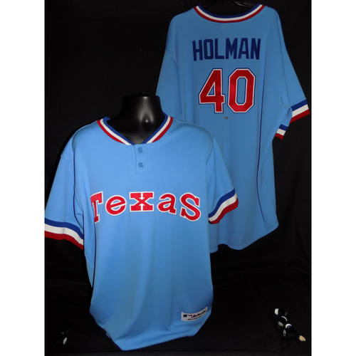 Photo of Brad Holman Game-Used 1977 Throwback Jersey