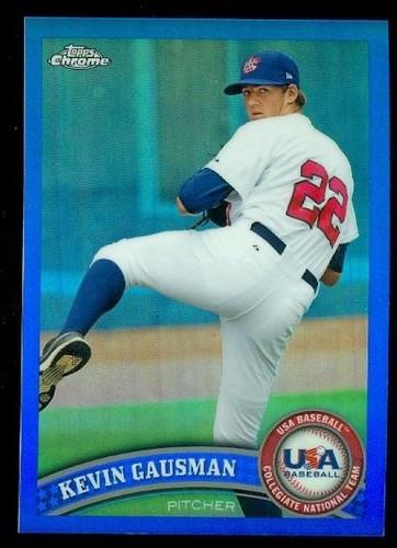 Photo of 2011 Topps Chrome USA Baseball Blue Refractors #USABB7 Kevin Gausman