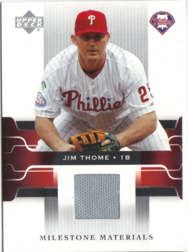 Photo of 2005 Upper Deck Game Jersey #JT Jim Thome SP