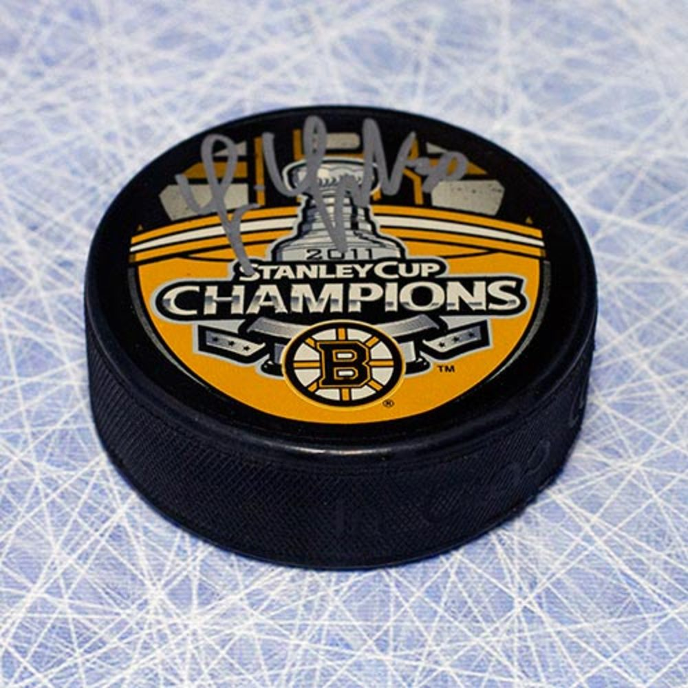 Tim Thomas Boston Bruins Autographed 2011 Stanley Cup Champions Puck