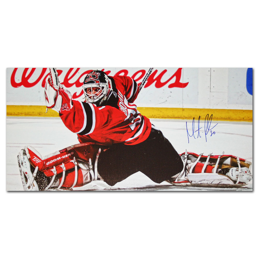Martin Brodeur Autographed New Jersey Devils 8X16 Canvas