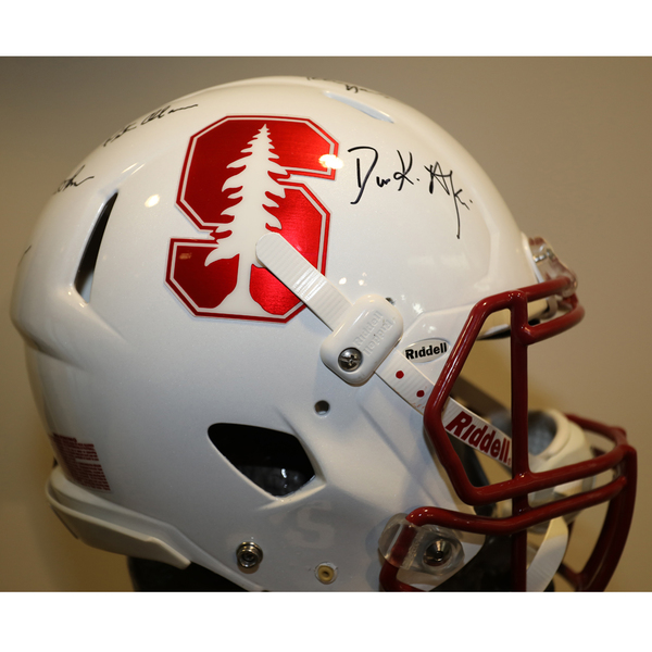 Stanford Autographed Full-Size Football Helmet
