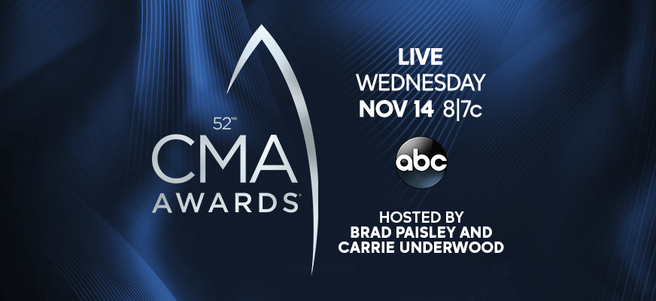52nd ANNUAL CMA AWARDS IN NASHVILLE - PACKAGE 3 of 3