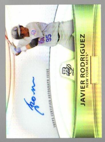 Photo of 2010 Bowman Platinum Prospect Autographs Refractors #JR Javier Rodriguez