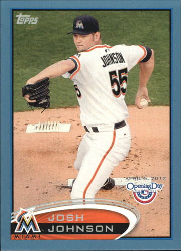 Photo of 2012 Topps Opening Day Blue #106 Josh Johnson