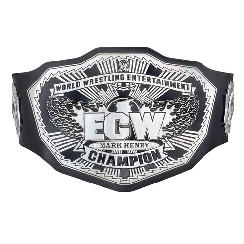 Mark Henry SIGNED ECW Championship Replica Title Belt