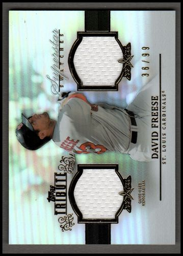 Photo of 2013 Topps Tribute Superstar Swatches #DF David Freese