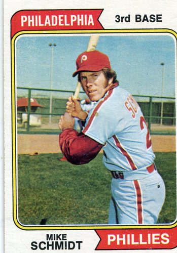 Photo of 1974 Topps #283 Mike Schmidt -- Hall of Famer