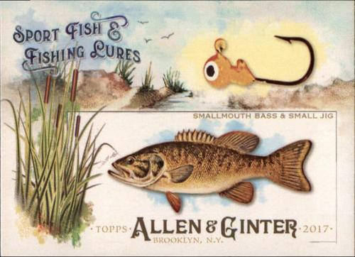Photo of 2017 Topps Allen and Ginter Sport Fish and Fishing Lures #SFL20 Smallmouth Bass