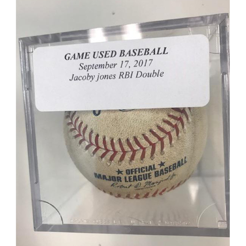 Photo of Game-Used Baseball: JaCoby Jones RBI Double