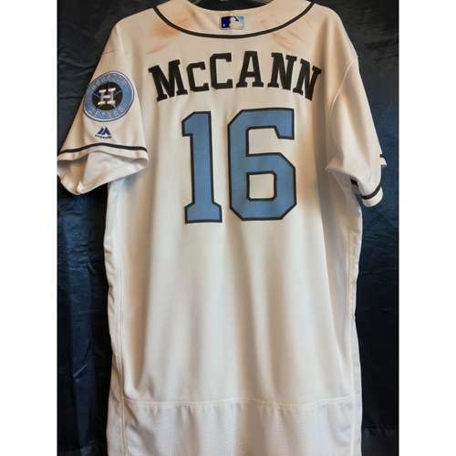 Photo of 2017 Brian McCann Game-Used Father's Day Home Jersey