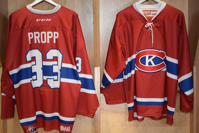 #33 Christian Propp Game Issued Kingston Canadians Jersey