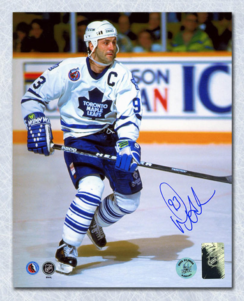 Doug Gilmour Toronto Maple Leafs Autographed Home Captain 8x10 Photo