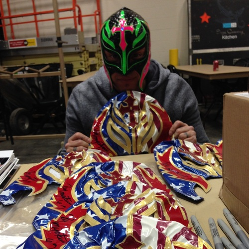 SIGNED Rey Mysterio Replica Mask
