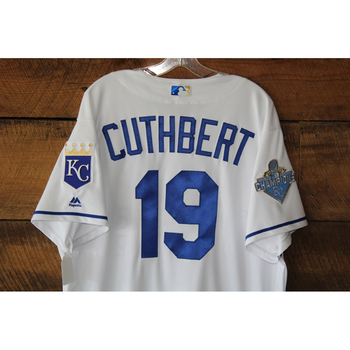 Photo of Cheslor Cuthbert Game-Used Jersey: MIN at KC - Sep 27, 2016