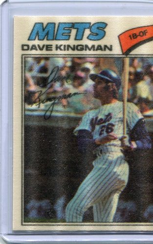 Photo of 1977 Topps Cloth Stickers #24 Dave Kingman SP