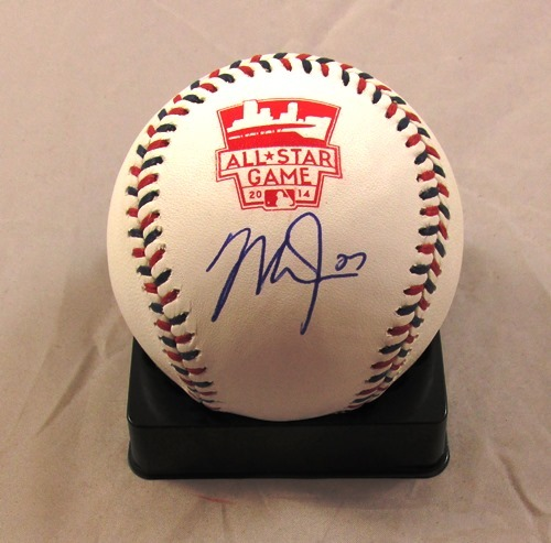 Photo of Mike Trout Autographed 2014 All Star Game Baseball