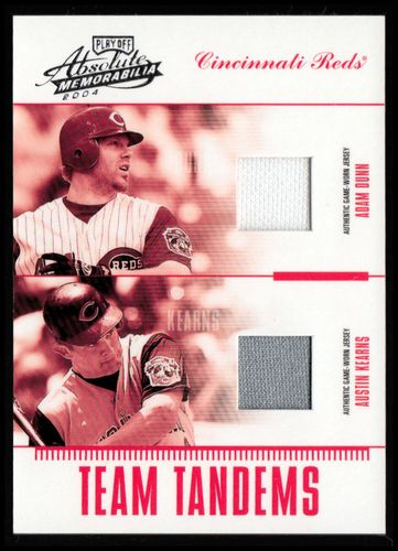 Photo of 2004 Absolute Memorabilia Team Tandem Material #10 Austin Kearns Jsy/Adam Dunn Jsy