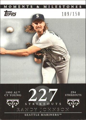 Photo of 2007 Topps Moments and Milestones #51-227 Randy Johnson/SO 227