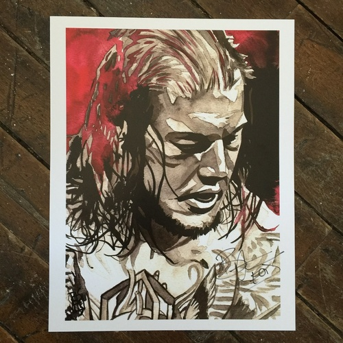 "Photo of Baron Corbin SIGNED 11"" x 14"" Rob Schamberger Print"
