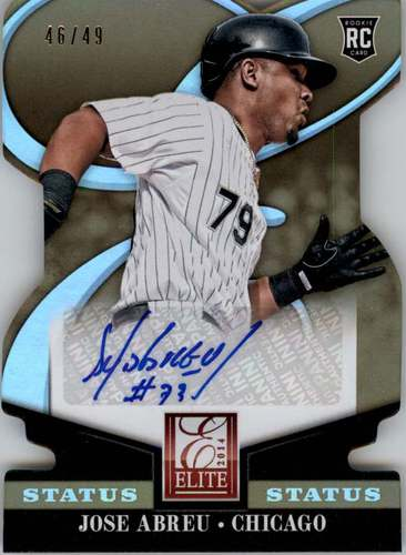 Photo of 2014 Elite Signature Status Gold #50 Jose Abreu RC AUTO 46/49