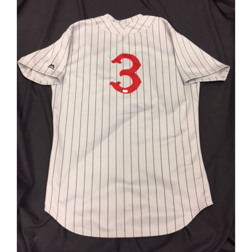 Photo of Game-Used Jersey - Ivan DeJesus - 1916 Throwback Jersey - 7/6/16 CIN @ CHC