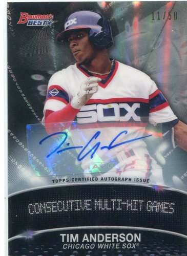 Photo of 2016 Bowman's Best Stat Lines Autographs #SLTA Tim Anderson