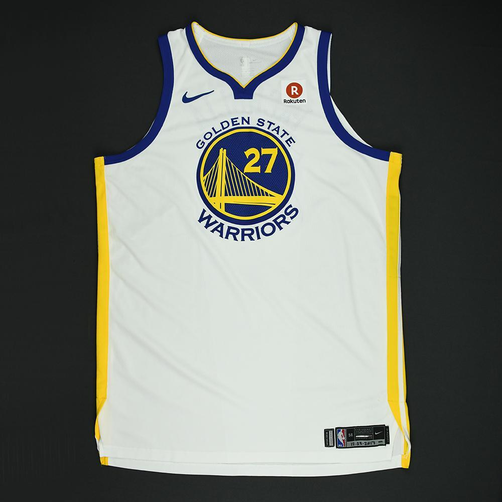 Zaza Pachulia - Golden State Warriors - NBA Christmas Day '17 Game-Worn Jersey - Dressed, Did Not Play