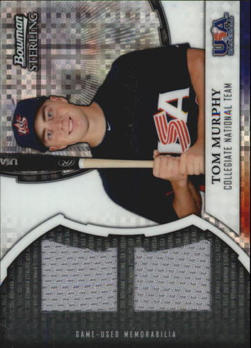 Photo of 2011 Bowman Sterling USA Baseball Dual Relic X-Fractors #TM Tom Murphy