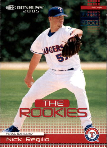 Photo of 2005 Donruss Rookies Press Proofs Blue #37 Nick Regilio