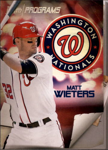 Photo of 2017 Topps Bunt Programs #PRMW Matt Wieters