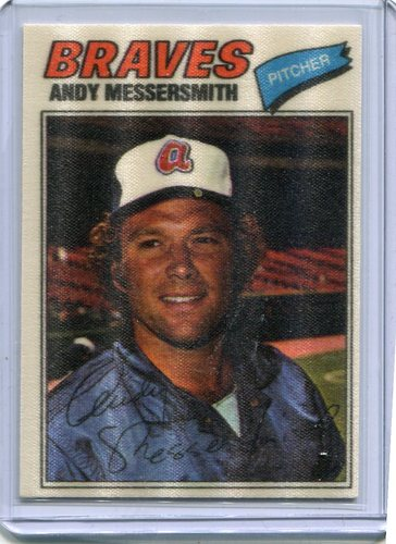 Photo of 1977 Topps Cloth Stickers #28 John(Andy)Messersmith