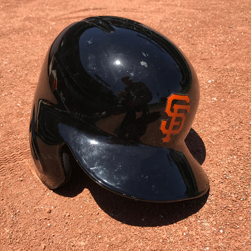 Photo of San Francisco Giants - Game-Used - 2017 Spring Training Helmet - Brandon Crawford