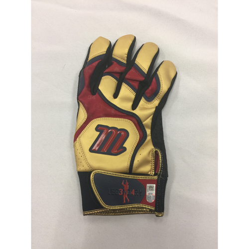 Photo of David Ortiz Autographed, Game-Used September 4, 2016 Batting Glove