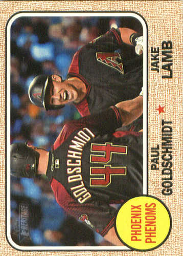 Photo of 2017 Topps Heritage Combo Cards Paul Goldschmidt/Jake Lamb
