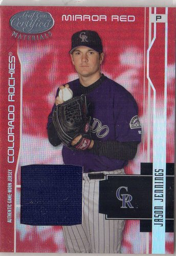 Photo of 2003 Leaf Certified Materials Mirror Red Materials #60 Jason Jennings Jsy/250