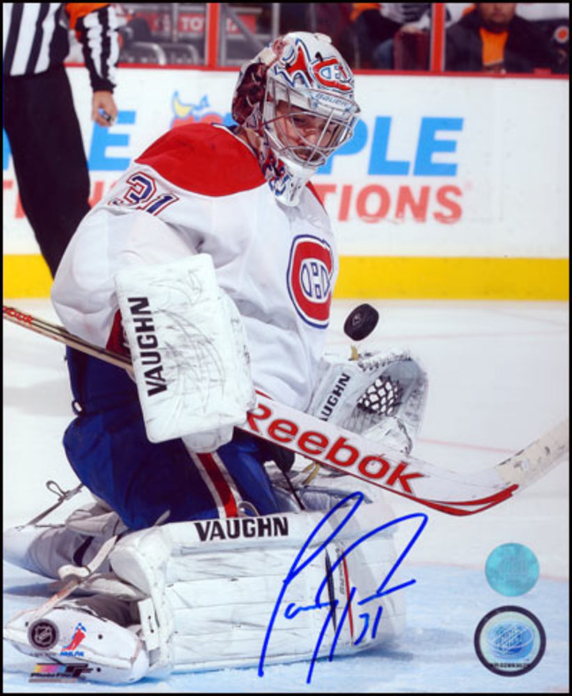 CAREY PRICE Autographed 8x10 Photo: Montreal Canadiens Chest Save