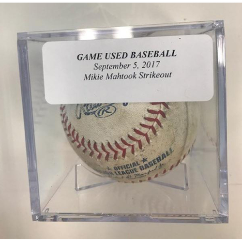 Photo of Game-Used Baseball: Mikie Mahtook Strikeout