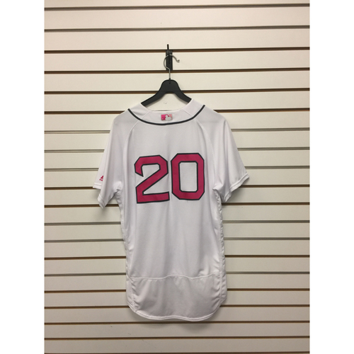 Photo of Ruben Amaro Game-Used Mother's Day Home Jersey