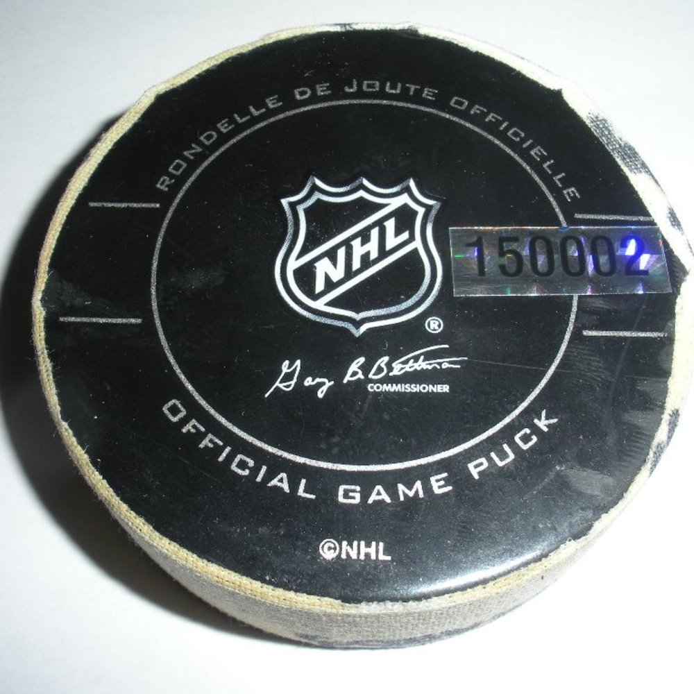 Brad Richards - Dallas Stars - Goal Puck - January 6, 2010 - (Rangers Logo)