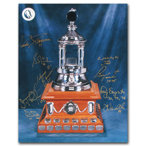 Vezina Trophy - Multi-Signed 11X14 Photo - Signed by Nine Winners