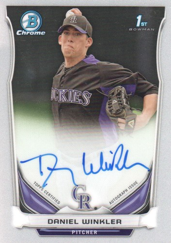 Photo of 2014 Bowman Chrome Prospect Autographs #BCAPDW Daniel Winkler